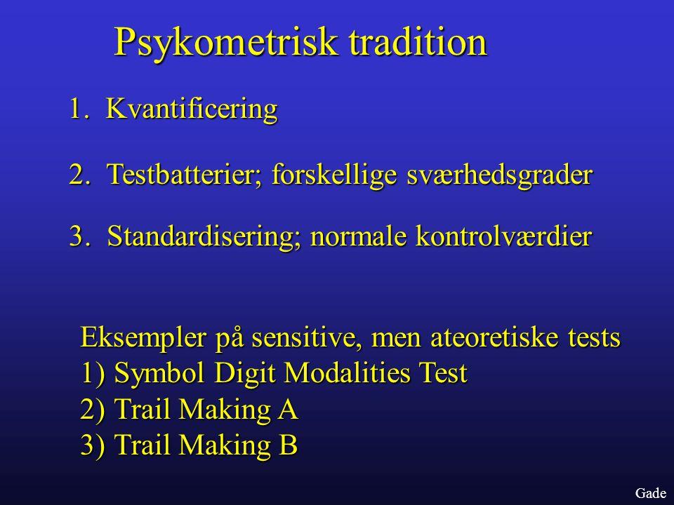 Psykometrisk tradition
