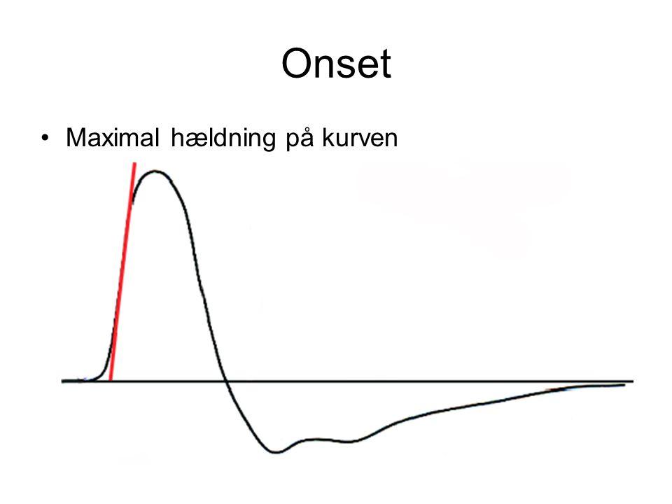Onset Maximal hældning på kurven