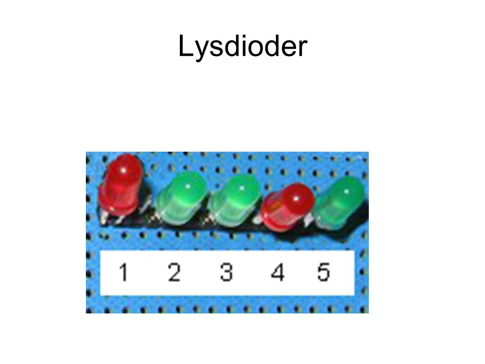Lysdioder