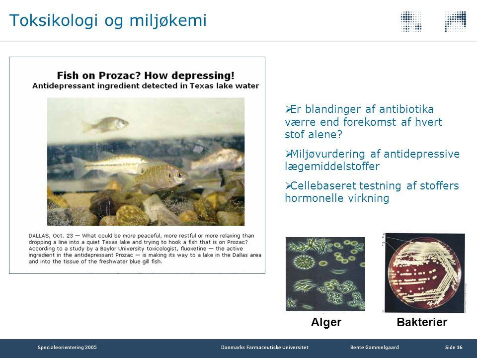 Toksikologi og miljøkemi