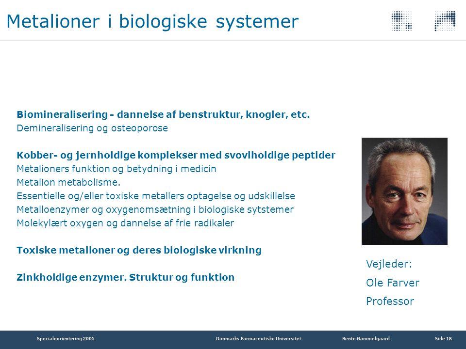 Metalioner i biologiske systemer