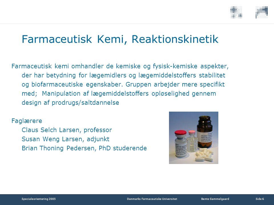 Farmaceutisk Kemi, Reaktionskinetik