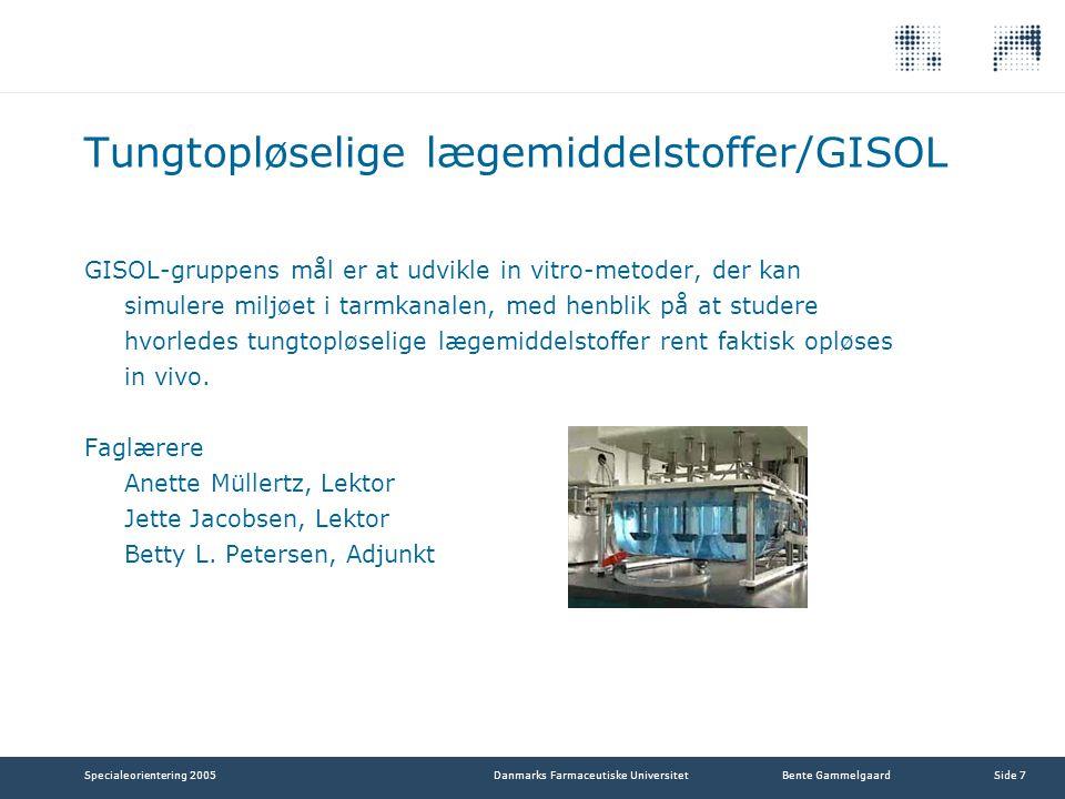 Tungtopløselige lægemiddelstoffer/GISOL