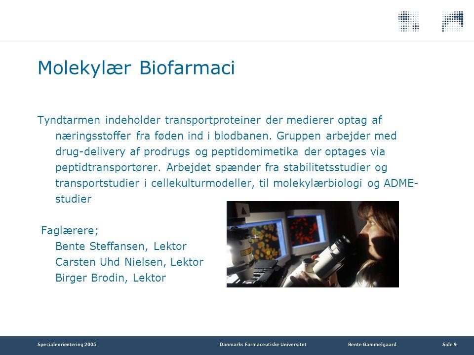 Molekylær Biofarmaci