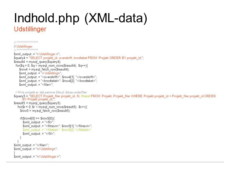 Indhold.php (XML-data) Udstillinger