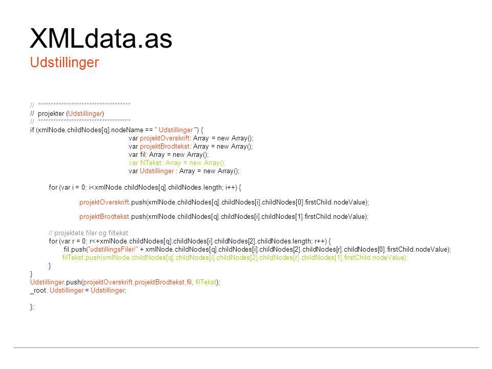 XMLdata.as Udstillinger