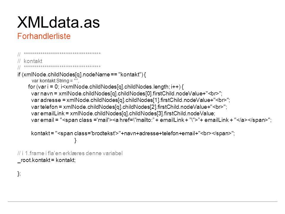 XMLdata.as Forhandlerliste