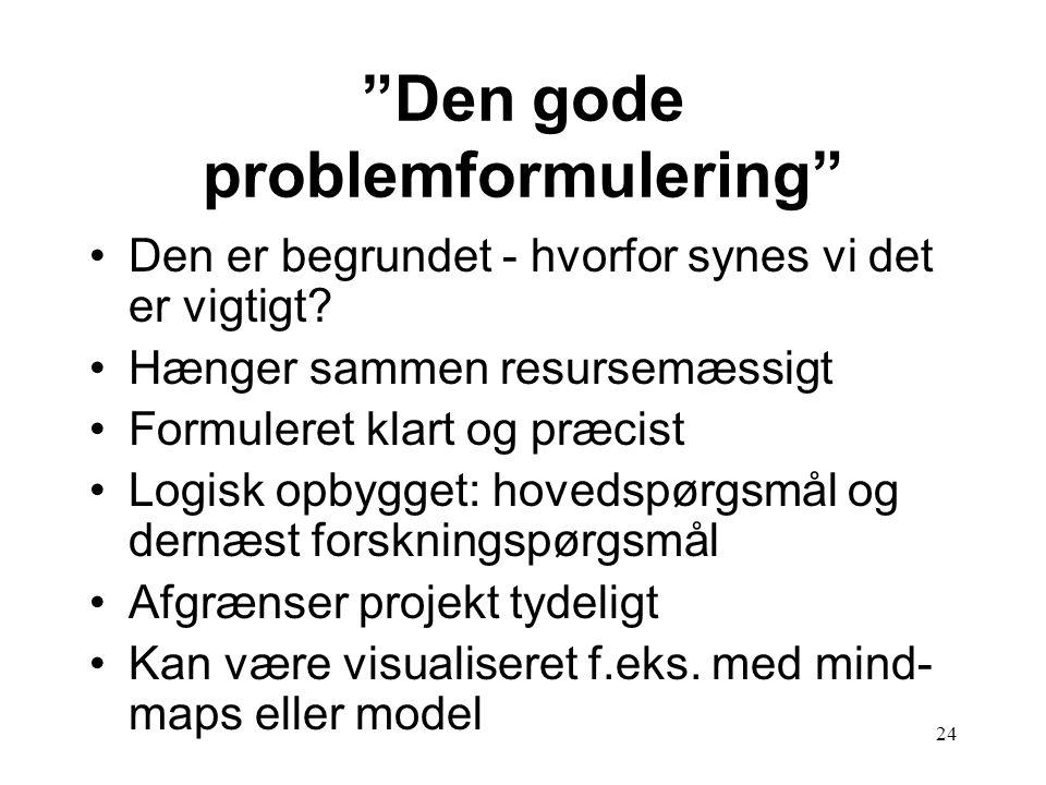 Den gode problemformulering