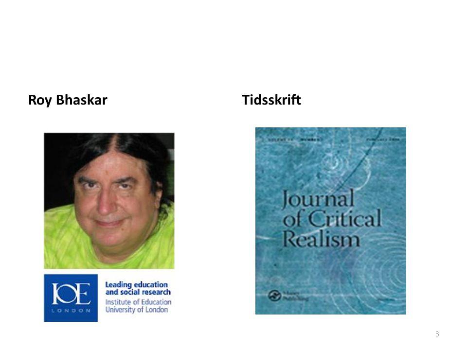 Roy Bhaskar Tidsskrift