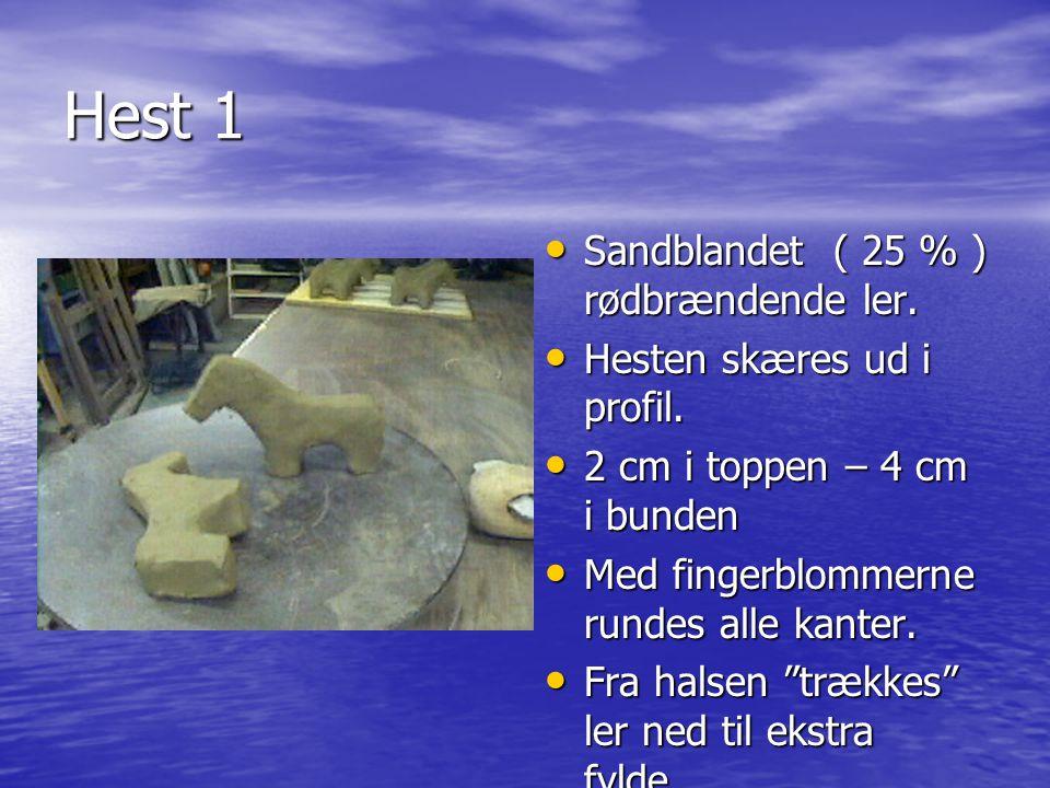 Hest 1 Sandblandet ( 25 % ) rødbrændende ler.