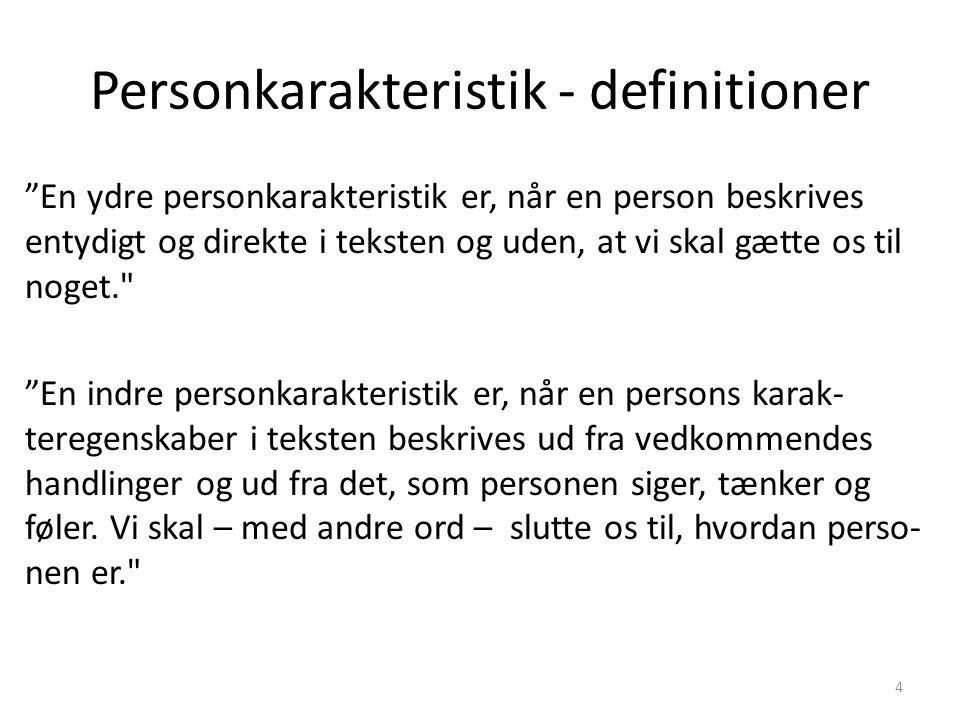 Personkarakteristik - definitioner