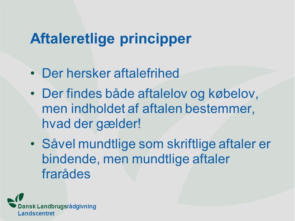 Aftaleretlige principper