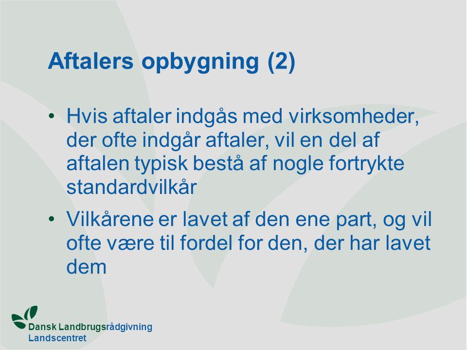 Aftalers opbygning (2)