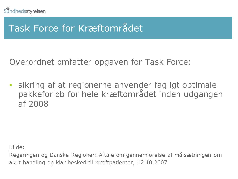 Task Force for Kræftområdet