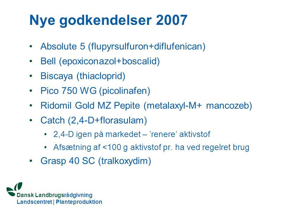 Nye godkendelser 2007 Absolute 5 (flupyrsulfuron+diflufenican)