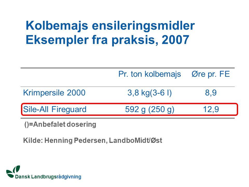 Kolbemajs ensileringsmidler Eksempler fra praksis, 2007