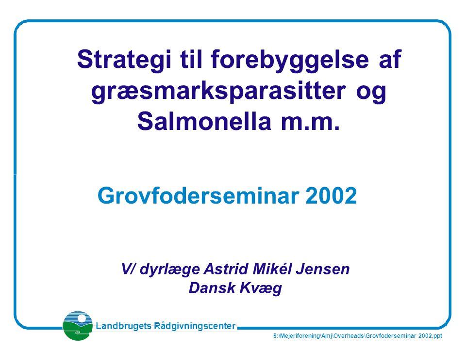 Strategi til forebyggelse af græsmarksparasitter og Salmonella m.m.