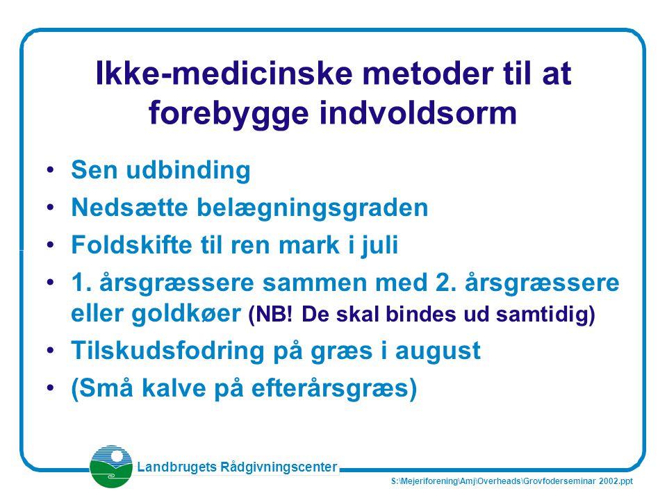 Ikke-medicinske metoder til at forebygge indvoldsorm