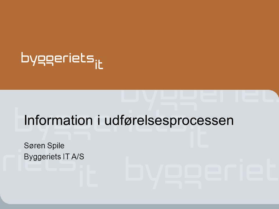 Information i udførelsesprocessen