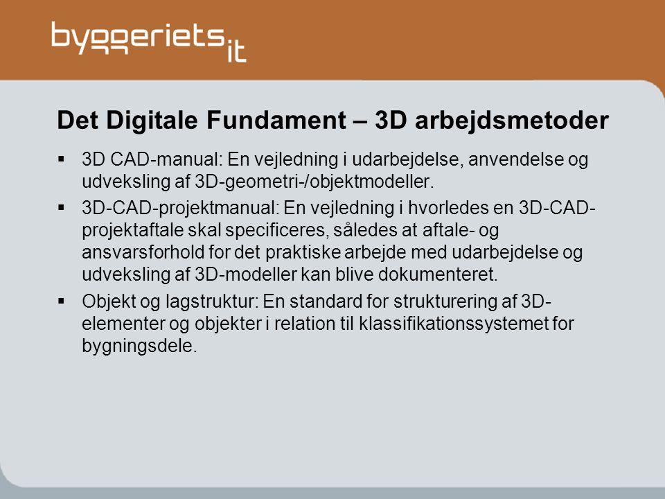 Det Digitale Fundament – 3D arbejdsmetoder
