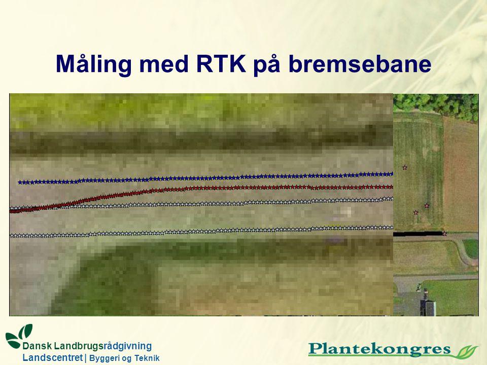 Måling med RTK på bremsebane