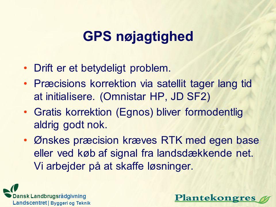 GPS nøjagtighed Drift er et betydeligt problem.