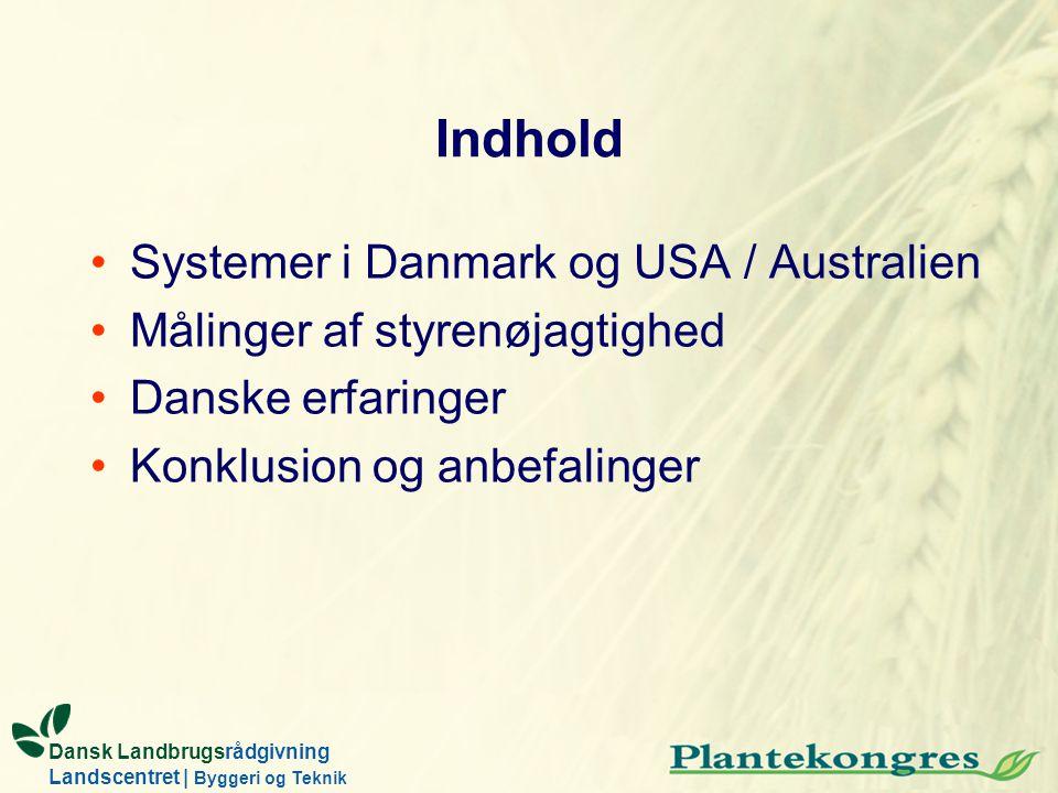 Indhold Systemer i Danmark og USA / Australien