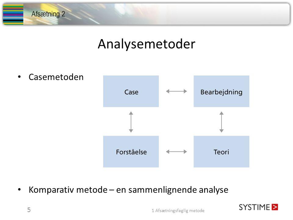 Analysemetoder Casemetoden