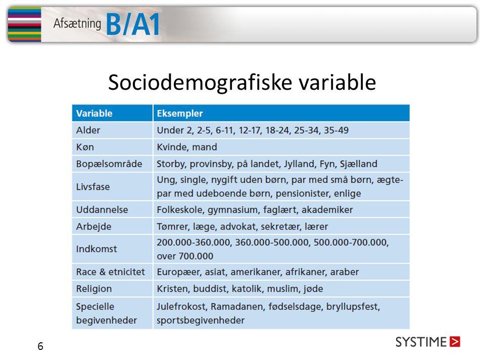 Sociodemografiske variable
