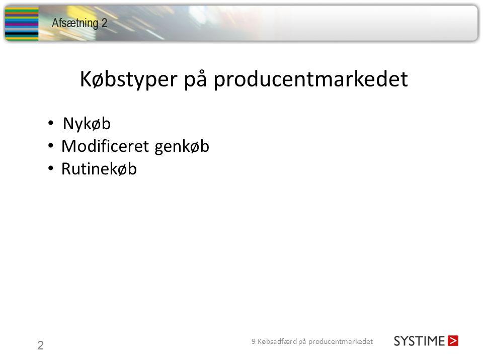 Købstyper på producentmarkedet