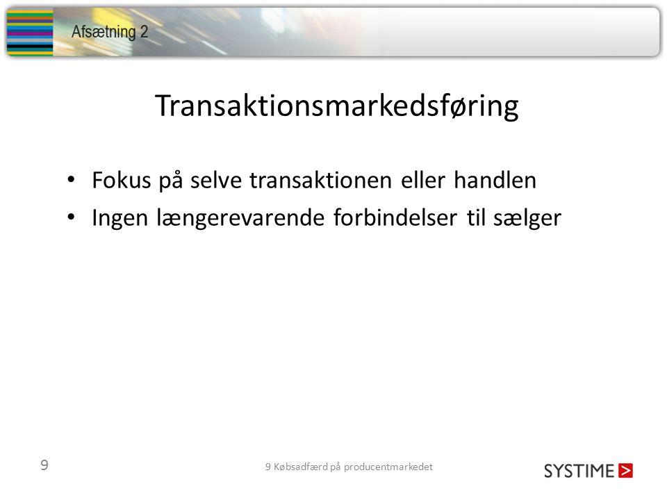 Transaktionsmarkedsføring