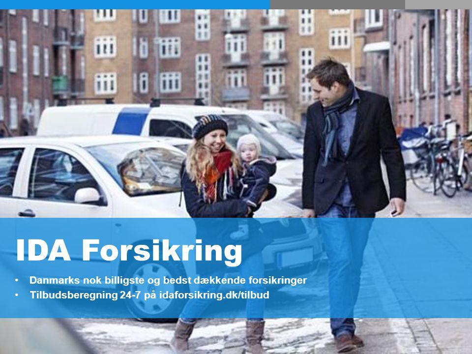 IDA Forsikring Danmarks nok billigste og bedst dækkende forsikringer