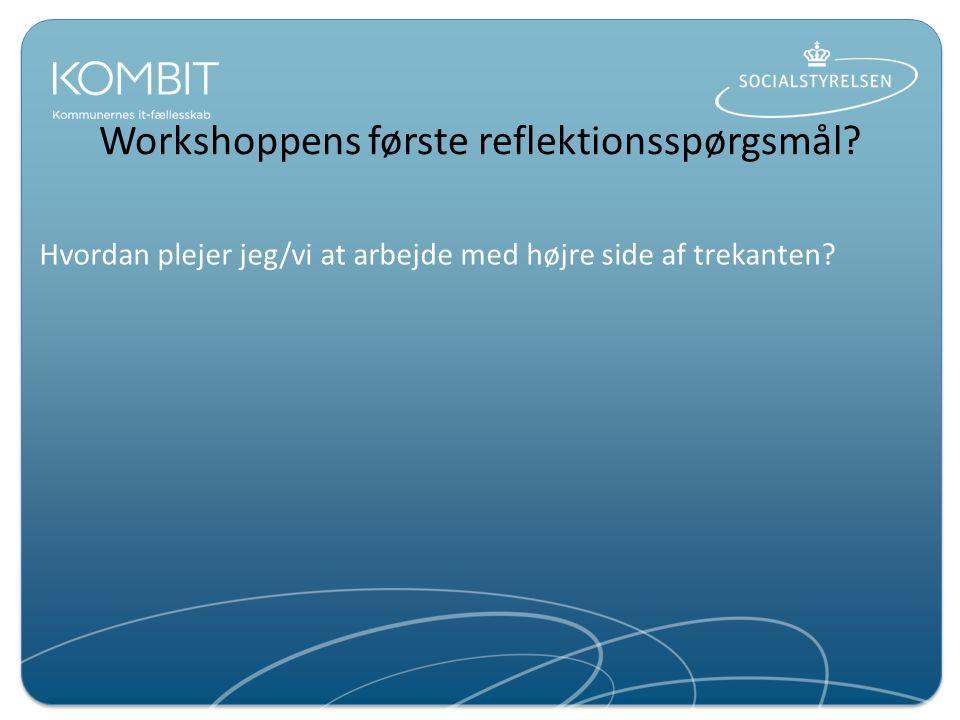 Workshoppens første reflektionsspørgsmål