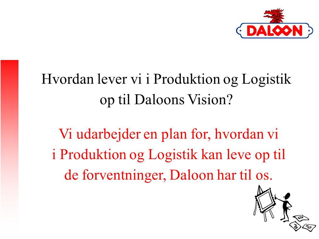 Hvordan lever vi i Produktion og Logistik op til Daloons Vision