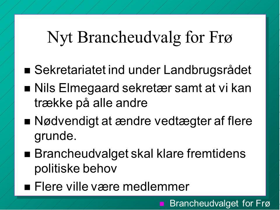 Nyt Brancheudvalg for Frø