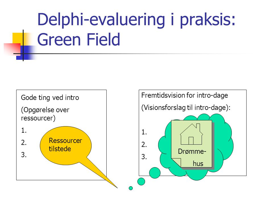 Delphi-evaluering i praksis: Green Field
