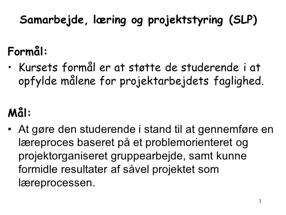 Samarbejde, læring og projektstyring (SLP)