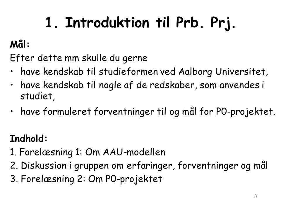 1. Introduktion til Prb. Prj.