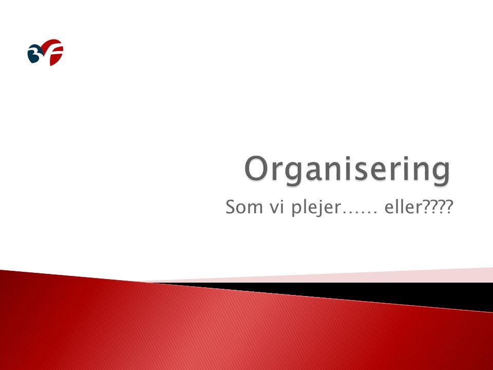 Organisering Som vi plejer…… eller