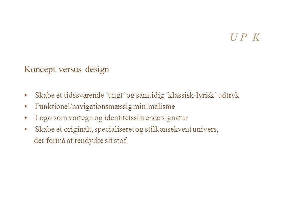 U P K Koncept versus design