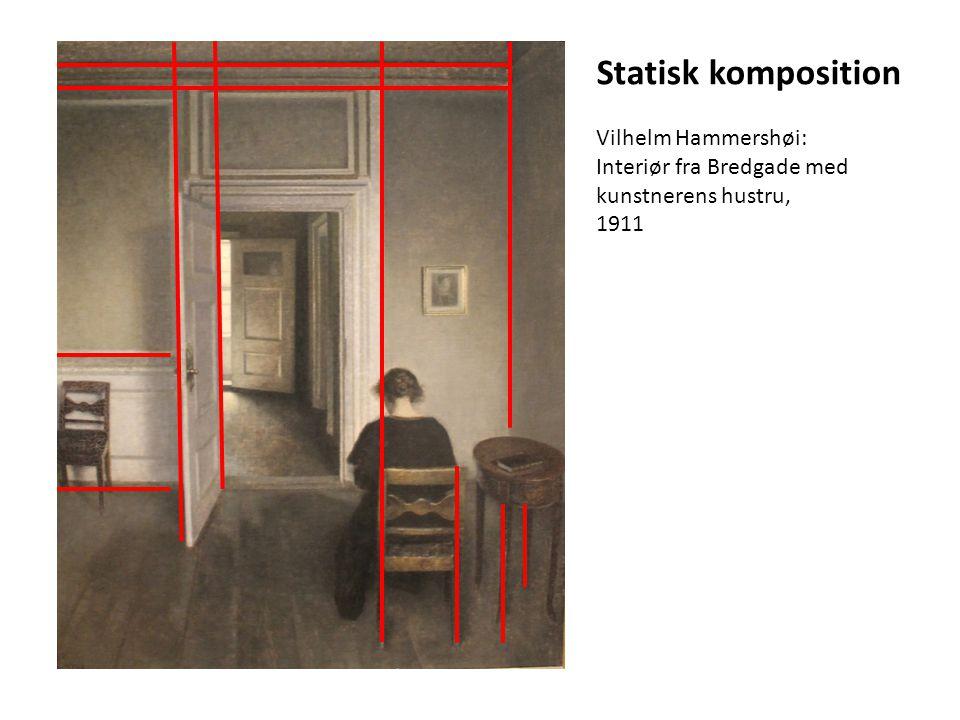 Statisk komposition Vilhelm Hammershøi: Interiør fra Bredgade med