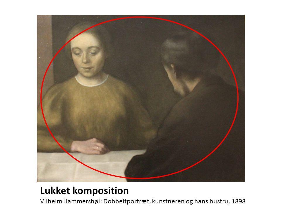 Lukket komposition Vilhelm Hammershøi: Dobbeltportræt, kunstneren og hans hustru, 1898