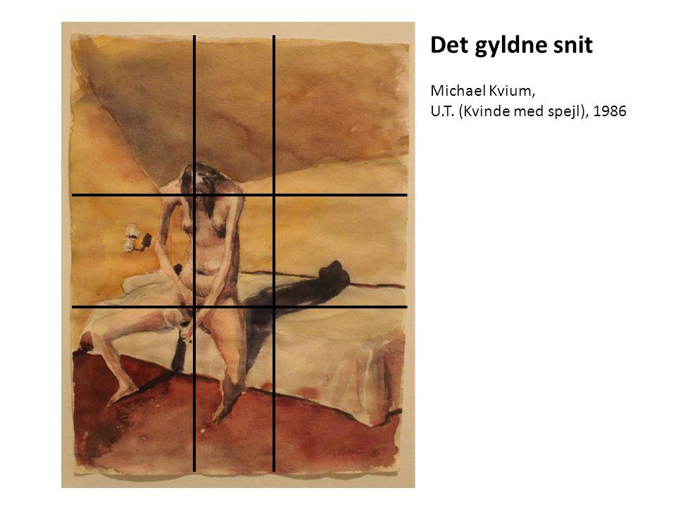 Det gyldne snit Michael Kvium, U.T. (Kvinde med spejl), 1986