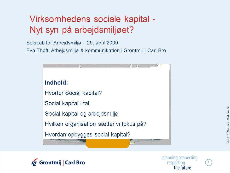 Virksomhedens sociale kapital - Nyt syn på arbejdsmiljøet