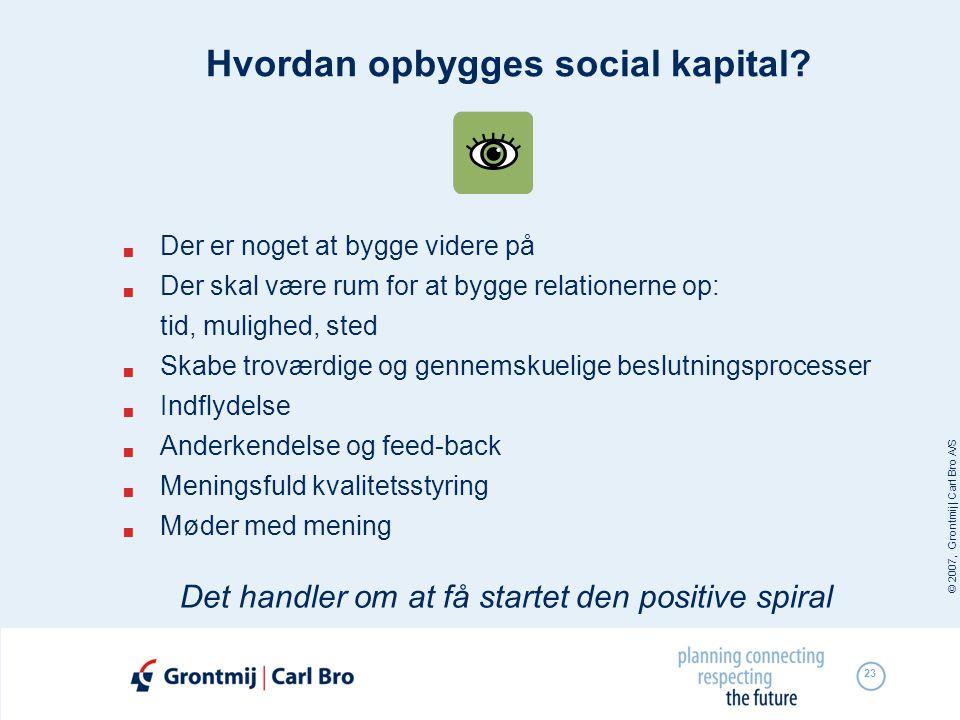 Hvordan opbygges social kapital