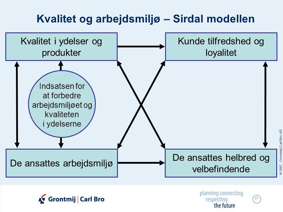 Kvalitet og arbejdsmiljø – Sirdal modellen
