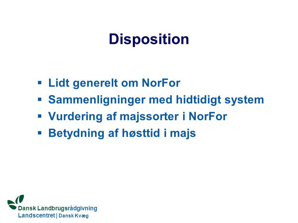 Disposition Lidt generelt om NorFor