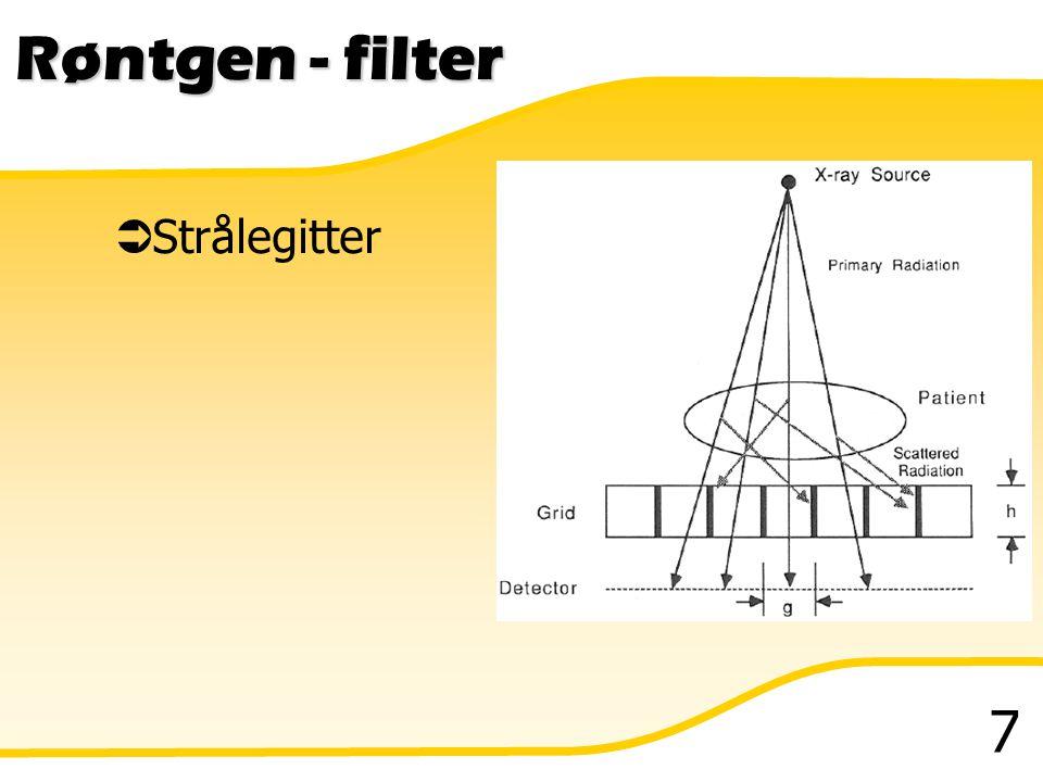 Røntgen - filter Strålegitter