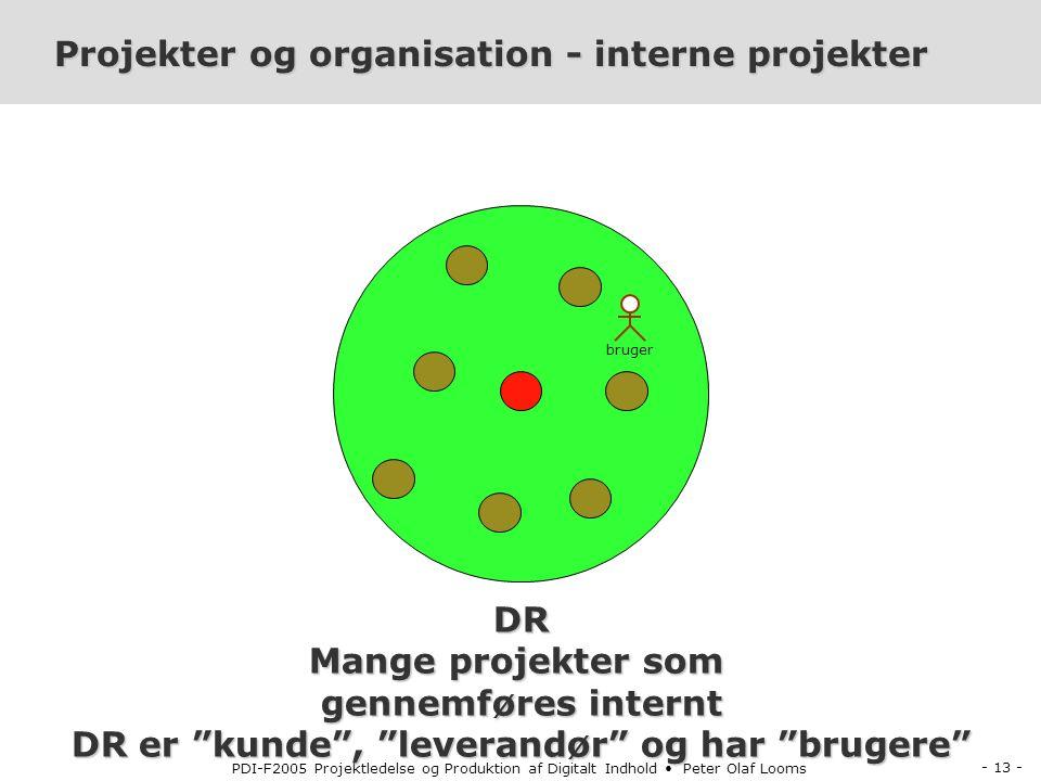 Projekter og organisation - interne projekter