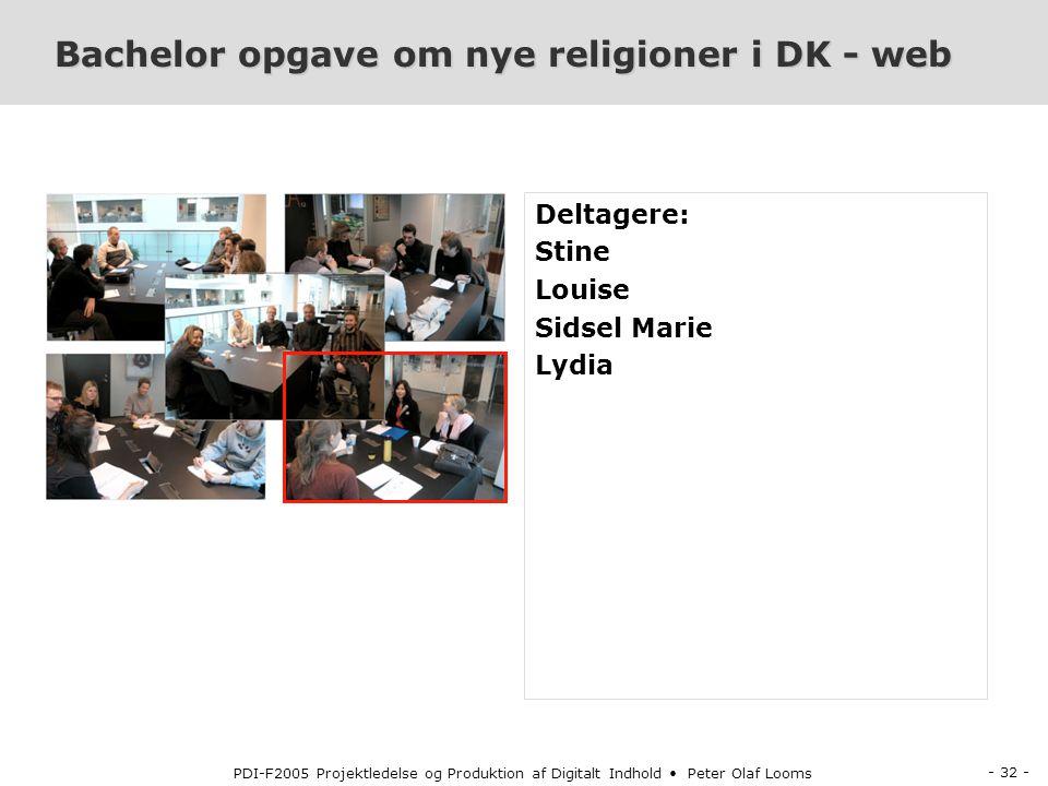Bachelor opgave om nye religioner i DK - web